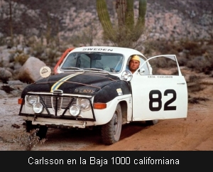 Carlsson en la Baja 1000 californiana